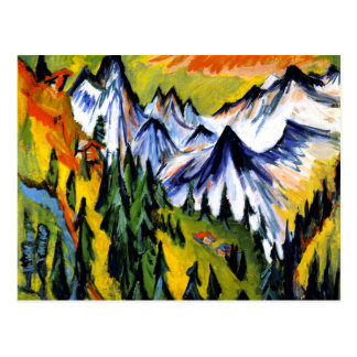Ernst Kirchner - Berggipfel Postcard