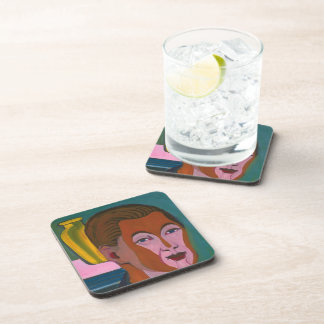 Ernst Kirchner-Head of the Painter (Self-portrait) Coasters