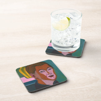 Ernst Kirchner-Head of the Painter (Self-portrait) Beverage Coaster