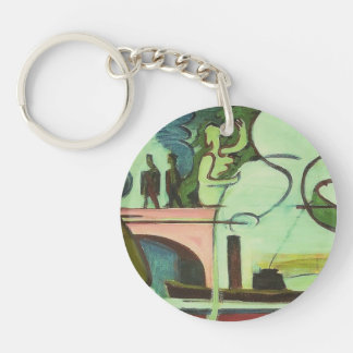 Ernst Kirchner- Lützowufer at the Morning Acrylic Key Chains