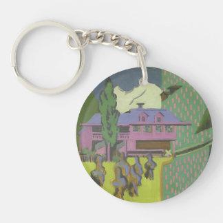 Ernst Kirchner- Violett House, Snowy Mountain Acrylic Key Chains
