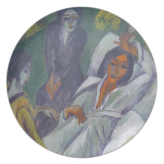 Ernst Kirchner- Woman at Tea Time Sick Woman Plate