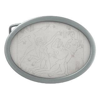 Ernst Ludwig Kirchner: Dance Shool Oval Belt Buckle