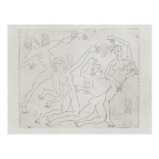 Ernst Ludwig Kirchner: Danza Shool Postales