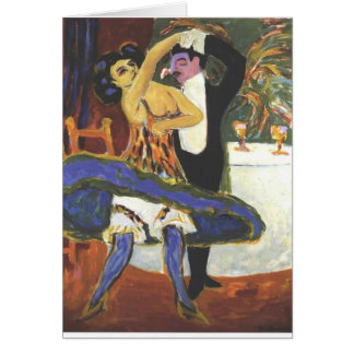 Ernst Ludwig Kirchner- English Dance Couple Card