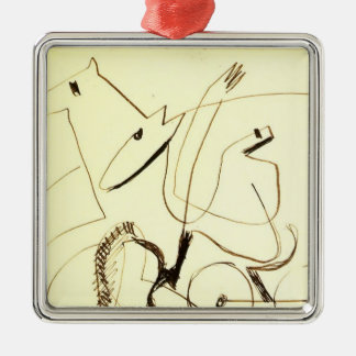 Ernst Ludwig Kirchner Harnessed Team Christmas Ornaments