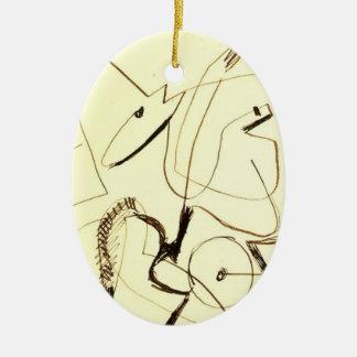 Ernst Ludwig Kirchner Harnessed Team Christmas Ornament