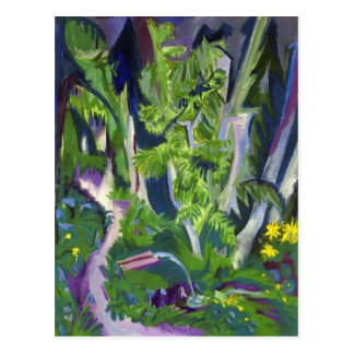 Ernst Ludwig Kirchner- Mountain Forest Postcard