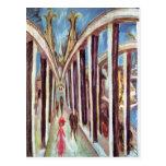 Ernst Ludwig Kirchner- The Rhine Bridge Post Card