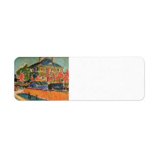 Ernst Ludwig Kirchner- Villa in Dresden Return Address Label