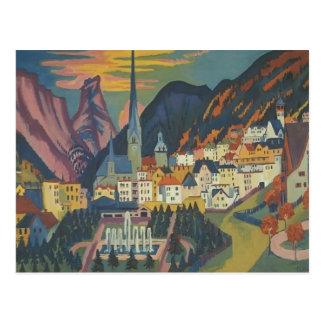 Ernst Luis Kirchner- Davos en verano Postales