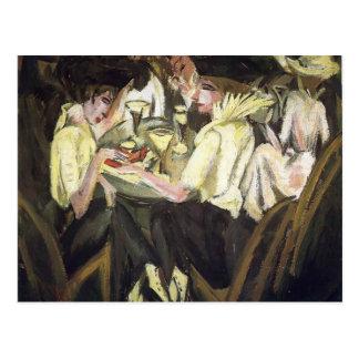 Ernst Luis Kirchner- el café del jardín Postal