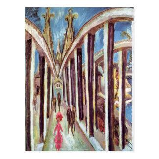 Ernst Luis Kirchner- el puente del Rin Postal