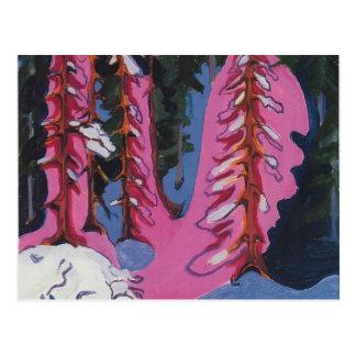 Ernst Luis Kirchner- en el borde del bosque Postal