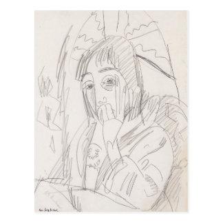 Ernst Luis Kirchner- Erna Japanschirm Tarjeta Postal