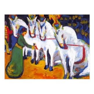 Ernst Luis Kirchner- Schimmeldressurakt Tarjetas Postales