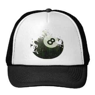 ERODED AND AGED 8 BALL TRUCKER HAT