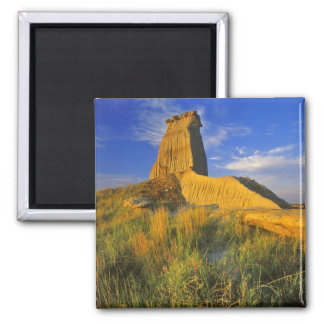 Eroded Monument in the Little Missouri 2 Inch Square Magnet