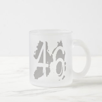 Eroded Number 46 Coffee Mug