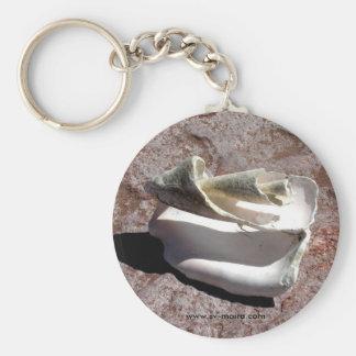 Eroded shell, Los Gatos anchorage Keychain