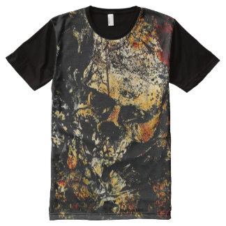 Eroded Skull All-Over-Print T-Shirt
