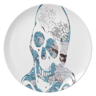Eroded Skull with Turquoise Plate