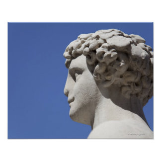 eroded statue outside the Palazzo Vecchio in Poster