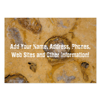 Eroded Surface Mineral Macro Business Card Template