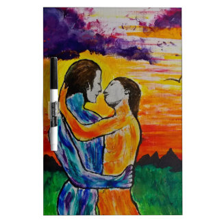 Eros and Psyche at sunset Dry-Erase Board