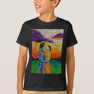 Eros and Psyche at sunset T-Shirt