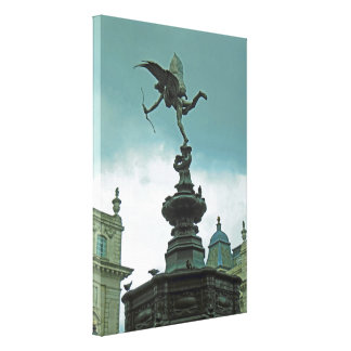 Eros At London's Piccadilly Circus Canvas Print