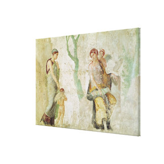 Eros being punished in the presence of Aphrodite Canvas Print