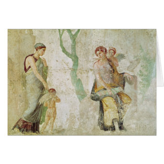 Eros being punished in the presence of Aphrodite Greeting Card