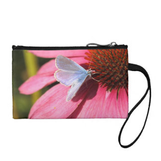 eros blue on pink flower coin wallet