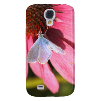 eros blue on pink flower galaxy s4 cover