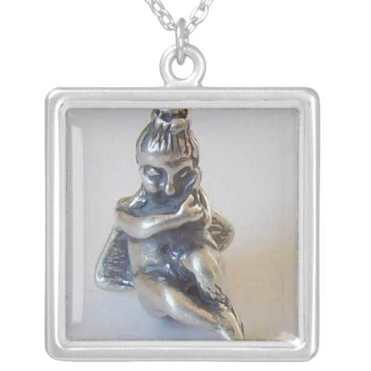 Eros - God of Love Silver Plated Necklace