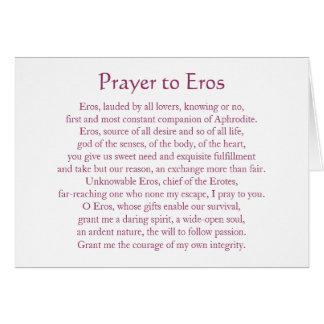 Eros Notecard Tarjeta