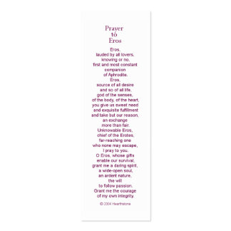 Eros Prayer Card Double-Sided Mini Business Cards (Pack Of 20)