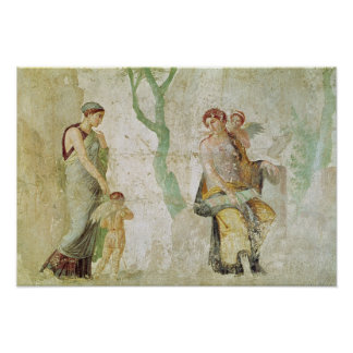 Eros que es castigado en presencia de Aphrodite Póster