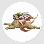Eros rides lion rides lion stickers