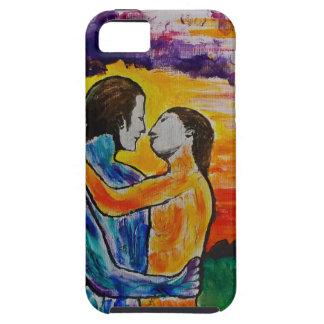 Eros y psique en la puesta del sol iPhone 5 fundas