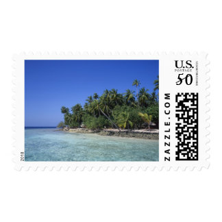 Erosion by rising sea levels, global warming in postage