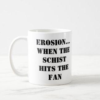 EROSIÓN… CUANDO el ESQUISTO GOLPEA la taza de la F