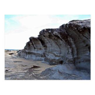 Erosión en playa tarjetas postales