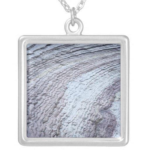 Erosion ,Zion National Park ,Utah 2 Square Pendant Necklace