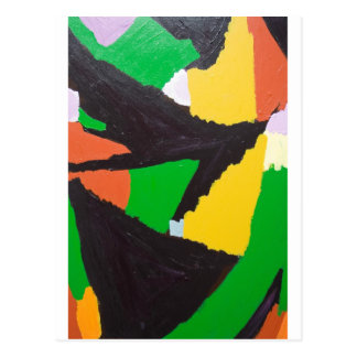 Erosive Black Jigsaw Curves Postcard