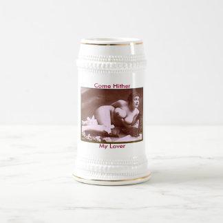 Erotica del vintage jarra de cerveza
