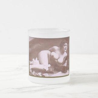 Erotica del vintage taza de café esmerilada