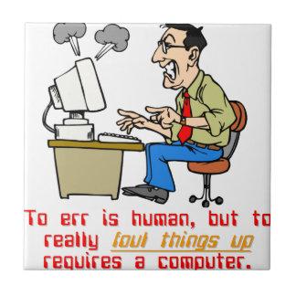 Err es ordenador azulejo cuadrado pequeño