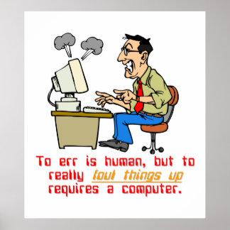Err está realmente el ordenador (1) póster
